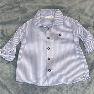 JoJo Maman Bebe Button Down Striped Shirt Size 3T